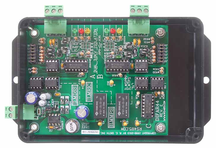 DIFAR44: Dual Isolated RS485<=>RS485 Repeater/Extender - R.E.Smith ...