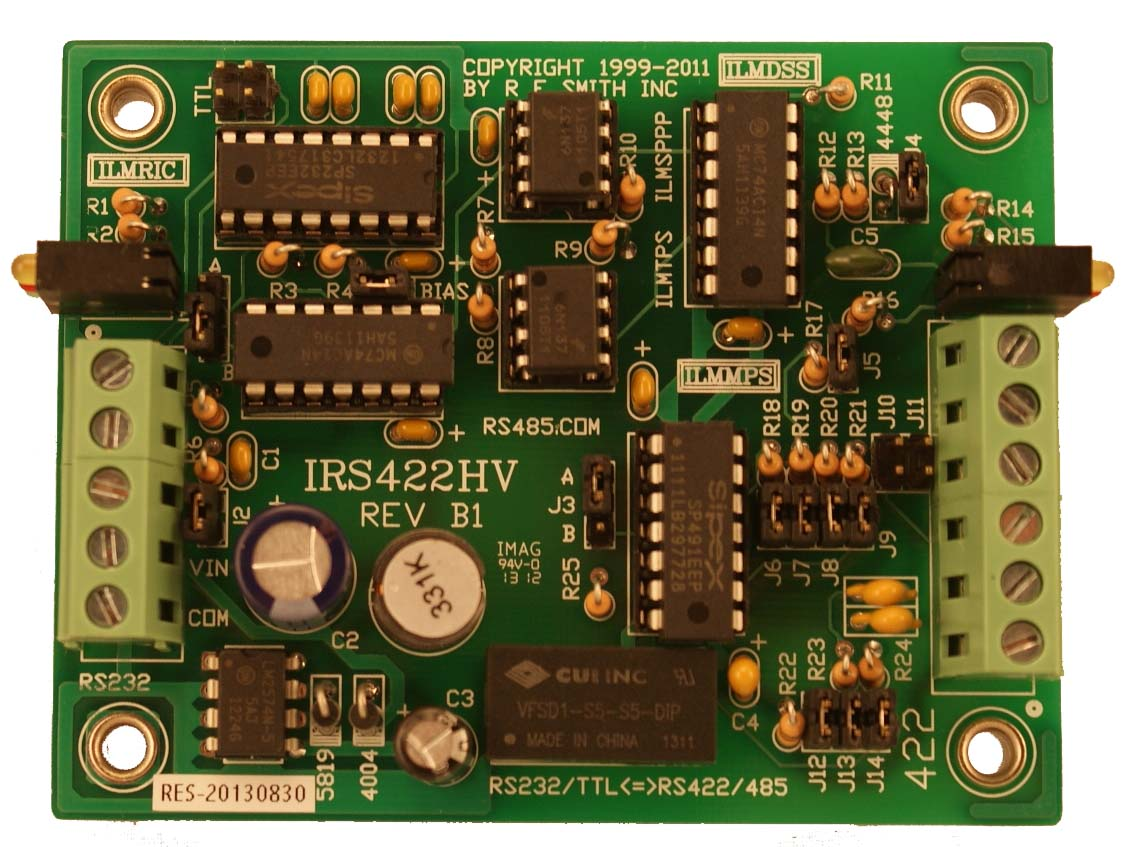 IRS422HV (revB1) - RS232 to RS485 / RS232 to RS422 Converter