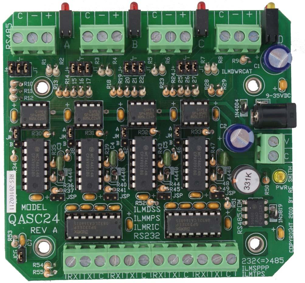 qasc24 quad rs232\u003c\u003d\u003ers485 2 wire half duplex non isolated