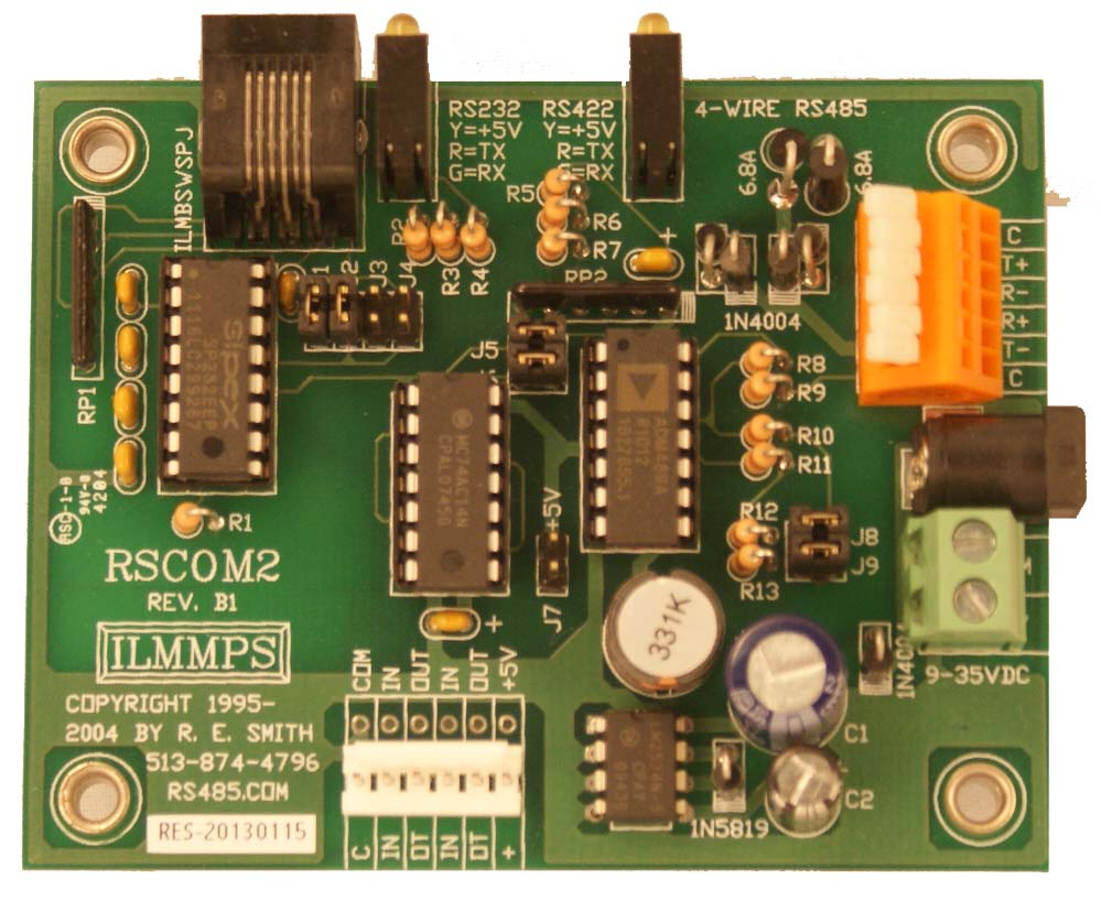 Rscom2 Rs232 Rs422 Rs485 Using Rts And Ttl Rj11 Wiring Diagram Duplex Operation